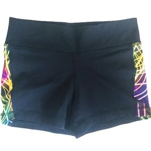 TRIPLE FLIP Electric print Shorts Black Girl 14-16